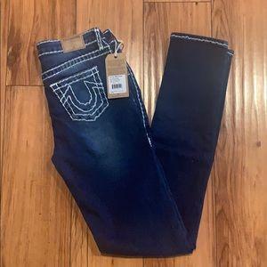 NWT True Religion Girls Blue Jeans Sz 16